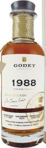 1988 single cask fins bois 30 years old, 70cl; 63%