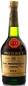 Three stars ona black background, 73cl, screw cap
