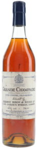 Grande Champagne, fine cognac, old reserve; with more text and decoration in blue