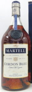 1L Extra Old Cognac, HKDNP; Asian sticker on the back, left above 'Martell'