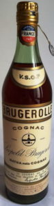VSOP, cognaçaise, Italian import; 73cl, 1950s