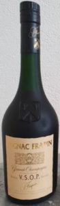 70cl Grande Chapagne, 1e cru du cognac; black capsule (1980-90s)
