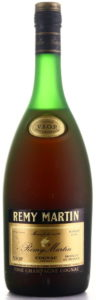 text on neck label: Cognac VSOP Fine Champagne (!); 1 Litre and 80 Proof stated