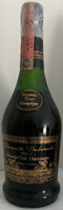 Extra Vieille grande fine champagne, 70cl and 40° stated; Italian duty seal on top