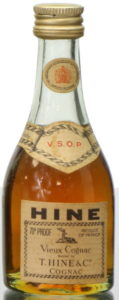 5cl VSOP with 70Proof in top left and Produce of France in top right