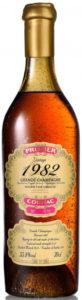 1982 Vintage grande champagne 55.8%; bottled 2019; Prunier on a rose square
