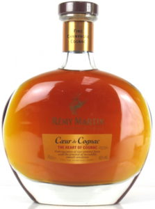 70cl; text in English. Bottom line: AOC Fine Champagne Cognac (!)