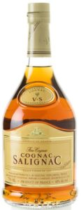 750ML, three lines of text in brown colour, yellow label, US import by Salignac Import Cie, Deerfield