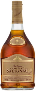 750ML, three lines of text in red colour, brownish label, 'cognac' in shoulder label less wide; US import by Salignac Import Cie, Deerfield