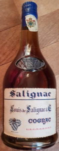 Gothic letter type (est. 1950s); blue capsule; without 'produce of France'; has it lost its shoulder vsop label?