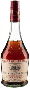 Chateau Paulet, très grande fine cognac; clear glass; 40°GL; with a paper duty seal
