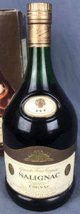 Three stars, Taittinger import; 1.50L stated