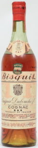 Trade mark: Edouard Laporte Bisquit, Proprietor; 4/5 quart US import, Rhode Island, 84 proof ; 1930s