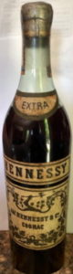 Hennessy extra, with Cuban duty seal