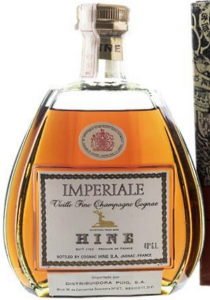 Hine Imperiale vieille fine champagne cognac; 40% G.L. stated a bit higher; Mexican import by Puig, Tijuana