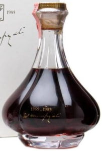 Unknown age, in a 'Bagnolet' decanter; gift on an eventin Venice in 1985