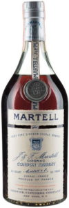 Very Fine liqueur cognac brandy; capped cork, no riveting; 4/5 Quart 80 proof; US import by Browne-Vintners (1960-1969)