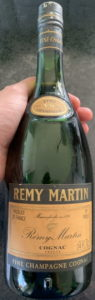 Fine champagne stated on the capsule, not less than 24 FL.OZ, 70 proof (UK, 1970s)