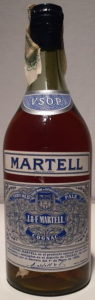 Spanish import, ca 70cl; marca registrada stated on Martell band and in lower right (1950s)