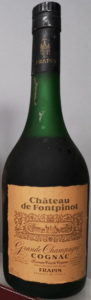 Chateau de Fontpinot, grande champagne; Frapin named on the label and on the cap; 41%vol and 70cl stated