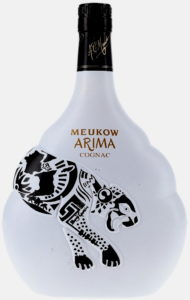 Arima VSOP, 70cl stated on the back; and a pregnancy pictogram as weel as a green point