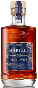 VSOP Blue Swift, 2020 edition designed by Quavo; text: made of cognac, then finished in bourbon casks (it is not allowed to be called cognac)