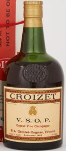 Produce of France and 70° proof stated; said to be 26 oz at auction