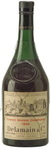 1930 Delamain & Co. (Roullet & Delamain); 70 proof, volume not stated (prob. 68cl); est. 1970s