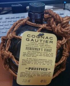 700ml Fisherman's Float Prestige, black stopper, ecru rope