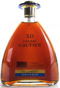 XO Gold & Blue, Gautier printed below XO Cognac