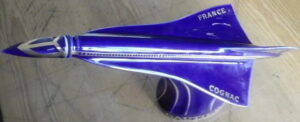 70cl, blue, with silvery striping