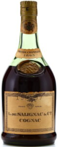 1865 grande champagne, bronze coloured capsule and blob (bottled 1960s)