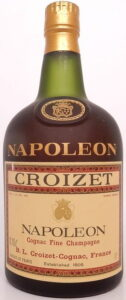 Napoleon on the shoulder; copper coloured capsule; 'cognac fine champagne' stated; 70cl and 40° stated