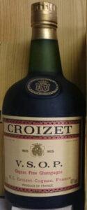 Different emblem in blob (paper?); 'cognac'; 0,70l left and 40%vol right