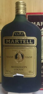70cl; with 'VSOP' above 'Martell'