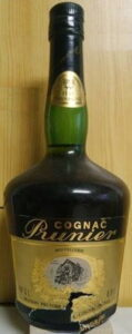 Different bottle hape; 'hostellerie' above the picture of the house; 0,7L and 40°G.L stated