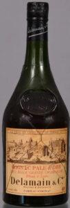 Pale & Dry. Delamain & Co. and underneath: Roullet & Delamain. Très Belle Grande Champagne (instead of Très Vieille); 70cl, 1950s