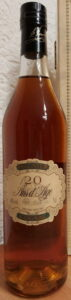 20 years old, with 'maison Prunier S.A. Cognac France' printed between content and ABV. According to the back label this one should be 27 years old.