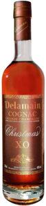 Delamain on upper edge of label