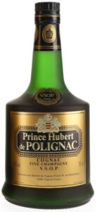 Fine champagne also stated on main label; 70cl and 40%vol stated; address on one line