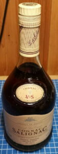 e70cl; Grande Fine Cognac is stated; German import