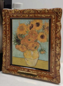 Van Gogh, Sunflowers; 70cl with a cotisation symbol