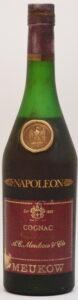 Napoleon, grande fine cognac, conten not stated; emblem of eagle in the shoulder blob
